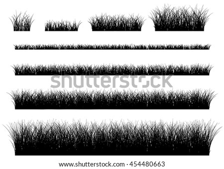 Vector grass isolated on a white background. grass field.
