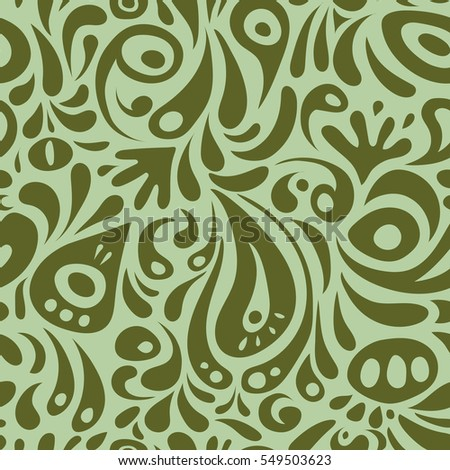 Vector green and neutral damask lace floral ornament. Delicate intricate decorated for wedding ceremonies, anniversary, party, events.