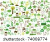 vector - green wallpaper - stock vector