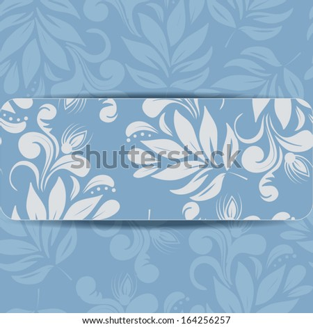 vector greeting card with floral pattern