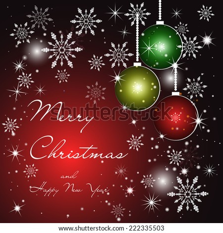 Vector greeting Christmas card. Perfect as invitation, banner or announcement.
