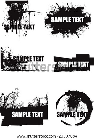 vector grunge design elements