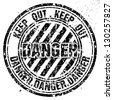 Vector grunge rubber stamp with Danger  - stock photo