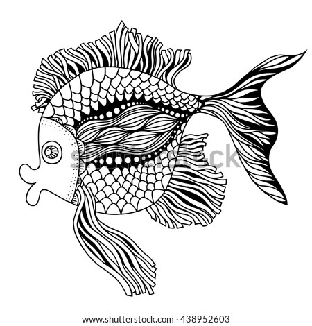 Zentangle Style Fish Vector Stock Vector 270034769