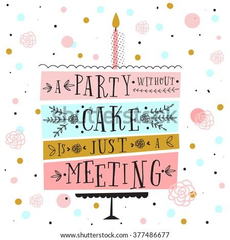Cute Happy Birthday Card Cake Candles Vector 377625250 – Egyptian Birthday Cards