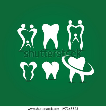 vector icon abstract tooth