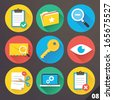 Vector Icons for Web and Mobile Applications. Set 8. - stock vector