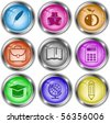 Vector icons of education - stock photo
