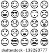 Vector icons of smiley faces - stock