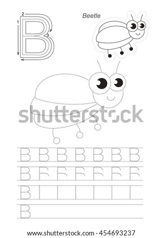 Vector Illustrated Worksheet Preschool Children Learn Stock Vector ...