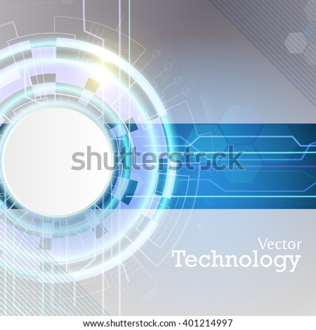 Vector illustration. Abstract lines. Technology.