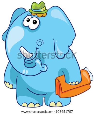 Sexy Elephant Cartoon Indian Boy Turban Ridi...