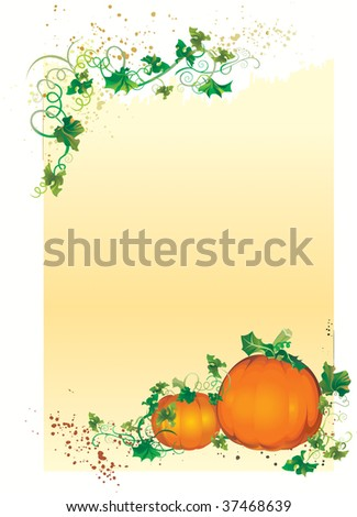 Vector illustration contains the image of Autumn congratulatory card
