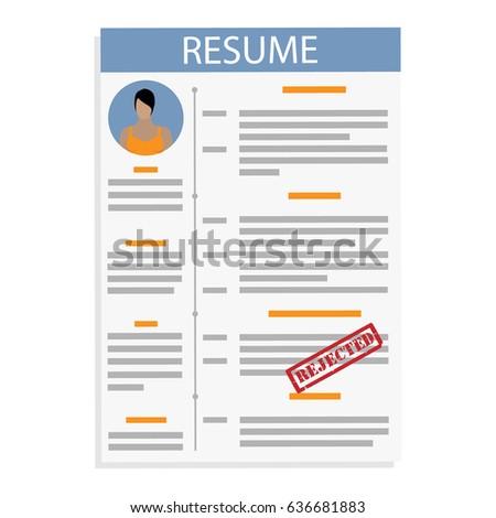 minimalist cv resume template job application stock vector