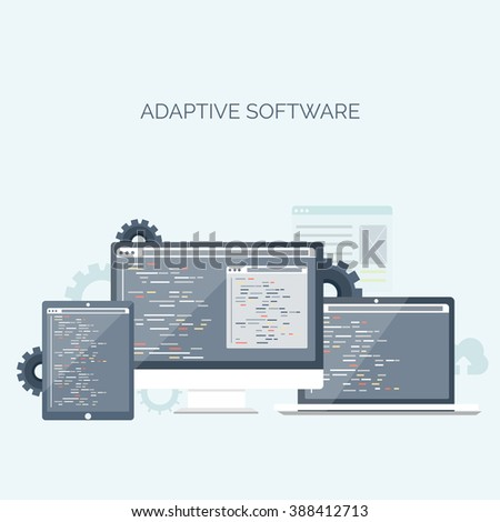 Graphic Web Design Creative Designer Work Stock Vector