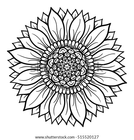 Decor Element Vector Illustration Mandala Tree Stock ...