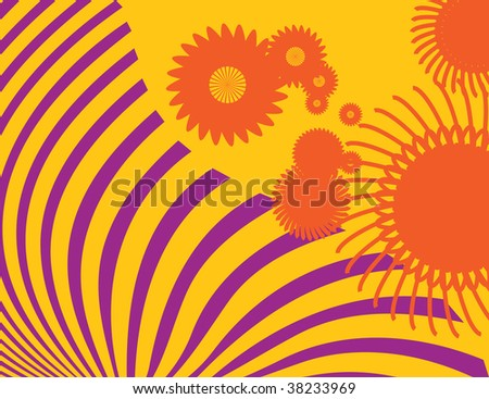 vector illustration, flower power background, card concept