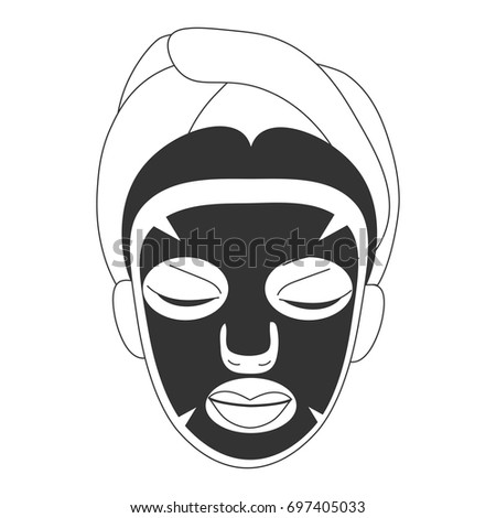 kiss mask template - hen party promotion template doodle styled stock vector