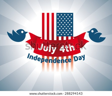 Vector illustration for the holiday of July 4, the Independence Day of the United States, graphic elements for design brochures and flyers cards Happy Weekend