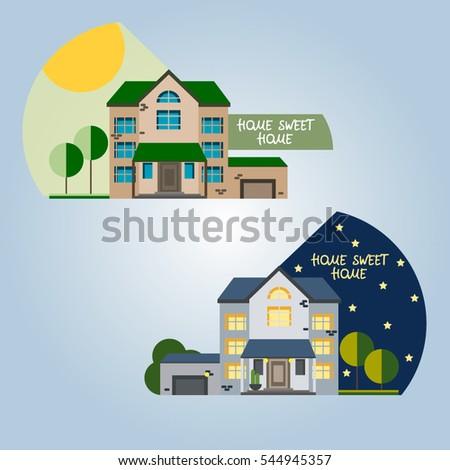 school building on landscape welcome school stock vector. Black Bedroom Furniture Sets. Home Design Ideas