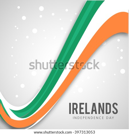 Vector illustration Independence Day of Ireland.