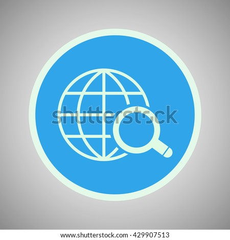 vector illustration modern tourism of  search icon