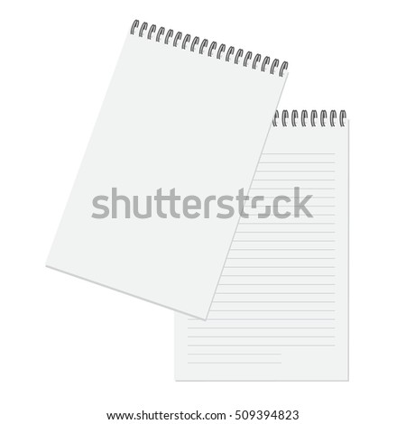 Vector illustration notepad, blank for applying the logo and brand name