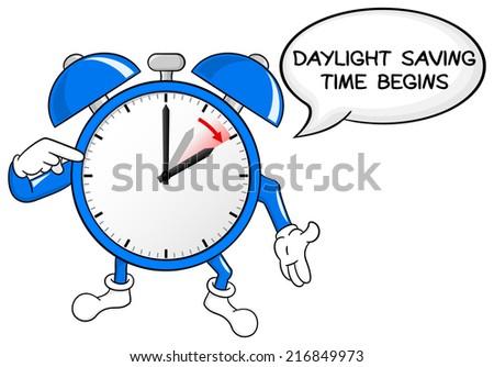 Daylight Saving Time Begins Blue Bird Stock Vector ...
