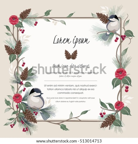 Vector Illustration Beautiful Floral Border Spring Stock ...