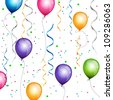 Vector Illustration of a Colorful Background with Balloons - stock photo