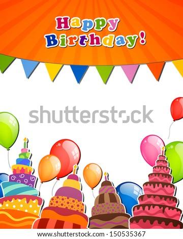 Открытка на день рождения в векторе 48