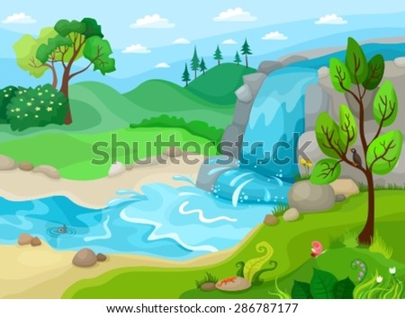 vector illustration of a landscape