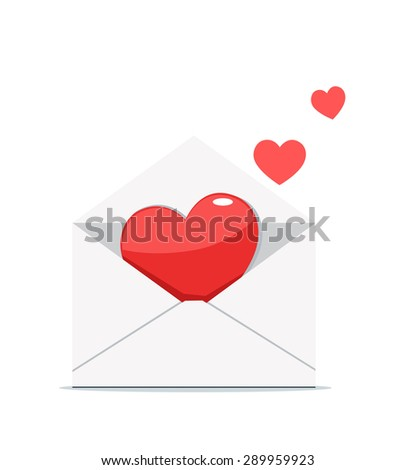 Vector illustration of a love letter.