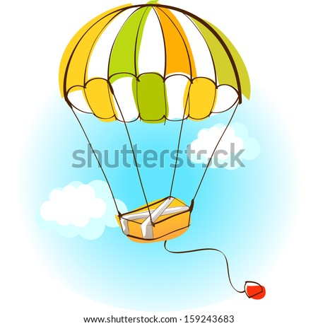 Vector illustration of a parachute