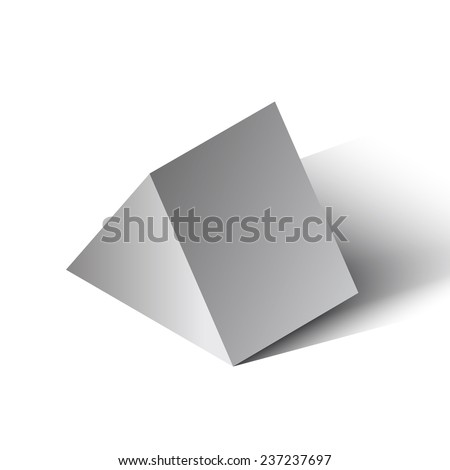 Vector illustration of a pyramid on a white background.