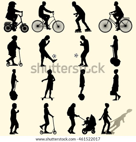 outdoor sport activities male silhouette man stock vector
