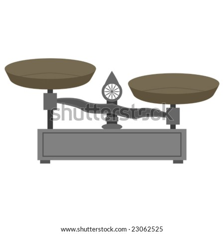 Vector illustration of a vintage style metal scale