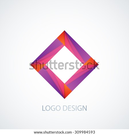 Vector illustration of abstract logo square.