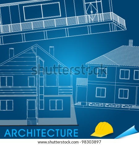 Vector illustration of architectural plans