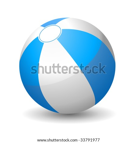 Vector illustration of beach ball