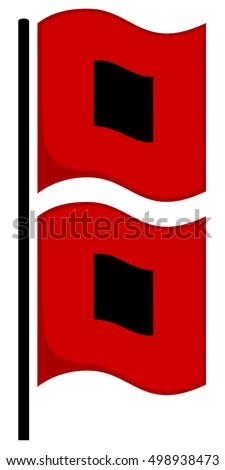 10 Red Flags In Special Education >> Vector Illustration Black Red Hurricane Warning Stock ...