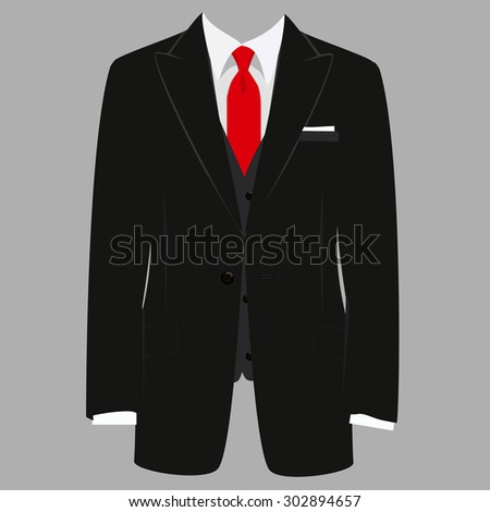 vector illustration black man suit red stock vector