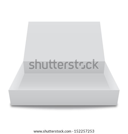 Vector illustration of blank white box