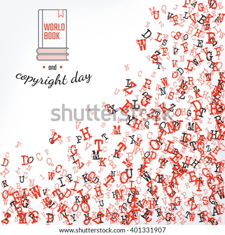 Vector Illustration Book Copyright Day Background Stock Vector ...