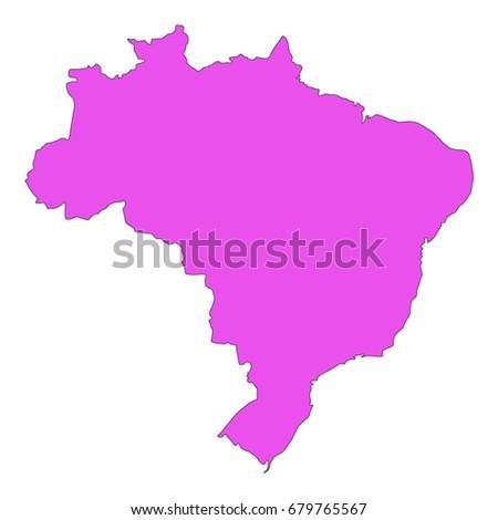 Vector Illustration Brazil Map Stock Vector Shutterstock - Brazil map illustration