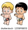 Vector illustration of Cartoon baby - stock vector