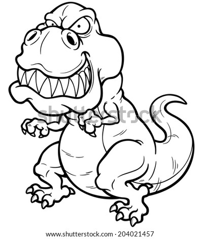 dancing dinosaur coloring pages | Outline Drawing Frog Isolated On White Stock Vector ...