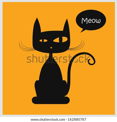 Vector Illustration Of Cat Stock Vector