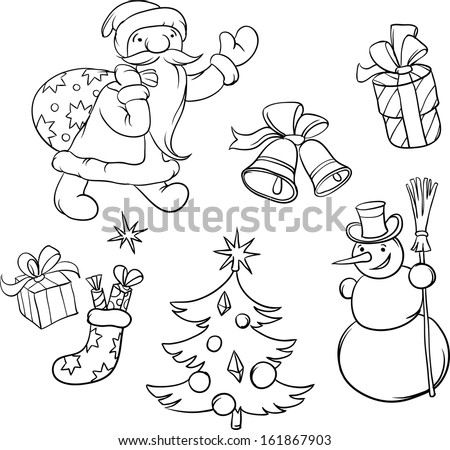 christmas symbols coloring pages - photo#15