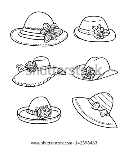 Ladies derby hat coloring pages for Ladies hat coloring pages